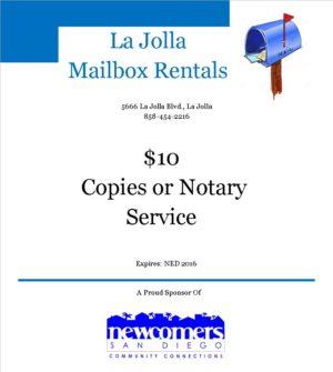 La Jolla Mailbox Rentals